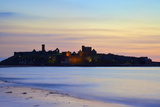Peel Castle at Dusk, St. Patrick's Isle, Isle of Man, Europe Photographic Print by Neil Farrin