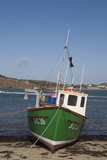 Fishing Boat on Bryer with Tresco in Background, Isles of Scilly, United Kingdom, Europe Photographic Print by Robert Harding