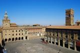View of Piazza Maggiore, Palazzo Del Podesta, Bologna, Emilia-Romagna, Italy, Europe Photographic Print by Bruno Morandi