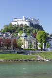 River Salzach with Hohensalzburg Castle and the Old Town Photographic Print by Markus Lange