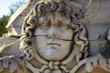 Head of Medusa, Temple of Apollo, Didyma, Anatolia, Turkey, Asia Minor, Eurasia Photographic Print by Neil Farrin