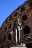 Statue of the Toreador Manolo Montoliu, Plaza De Toros, Valencia, Spain, Europe Photographic Print by Neil Farrin
