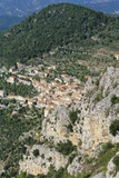 Aerial View of Peille, Provence, France Photographic Print by John Miller