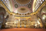 Interior of Suleymaniye Mosque, UNESCO World Heritage Site, Istanbul, Turkey, Europe Photographic Print by Neil Farrin