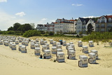 Beach Chairs, Bansin, Usedom, Mecklenburg-Vorpommern, Germany, Baltic Sea, Europe Photographic Print by Jochen Schlenker