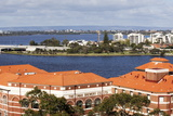 View over Swan River from Kings Park, Perth, Western Australia, Australia, Pacific Photographic Print by Lynn Gail