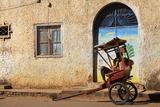 Rickshaw Driver Resting, Ambalavao, Madagascar, Africa Photographic Print by Lynn Gail