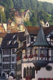 Tudor Exterior of Buildings in Town of St Gallen in Switzerland Photographic Print by John Miller