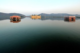 Lake and Palace on Amber's Road, Jaipur, Rajasthan, India, Asia Photographic Print by  Godong