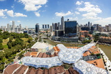 Elevated View over Fort Canning Park and the Modern City Skyline, Singapore, Southeast Asia, Asia Photographic Print by Gavin Hellier