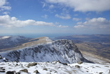 View from Summit of Cader Idris in Winter Looking to Barmouth Photographic Print by Peter Barritt