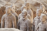 Terracotta Warrior Figures in the Tomb of Emperor Qinshihuang, Xi'An, Shaanxi Province, China Photographic Print by Billy Hustace