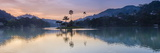 Kandy Lake and the Island at Sunrise, Kandy, Central Province, Sri Lanka, Asia Photographic Print by Matthew Williams-Ellis