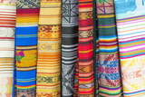 Otavalo Market, Traditional Colourful Textiles, Imbabura Province, Ecuador, South America Photographic Print by Gabrielle and Michael Therin-Weise