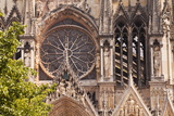 Gothic Architecture on the Notre Dame De Reims Cathedral Photographic Print by Julian Elliott