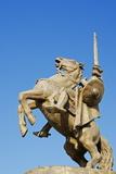 Statue of Svatopluk, Ruler of Moravia 869, Bratislava Castle, Bratislava, Slovakia, Europe Photographic Print by Christian Kober