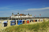 Seebruecke Ahlbeck, Ahlbeck, Usedom, Mecklenburg-Vorpommern, Germany, Baltic Sea, Europe Photographic Print by Jochen Schlenker
