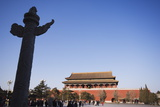 A Huabiao Statue Infront of the Forbidden City Beijing China Photographic Print by Christian Kober