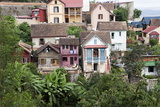 Houses in Antananarivo City, Madagascar, Africa Photographic Print by Lynn Gail
