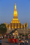 Golden Stupa at Pha That Luang Temple, Vientiane, Laos Photographic Print by Alain Evrard