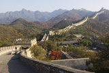 Autumn Colours and a Watch Tower on the Great Wall of China Fotoprint van Christian Kober