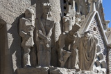 Tableaux in Carved Stone Near the Entrance to Sagrada Familia, Barcelona, Catalunya, Spain, Europe Photographic Print by James Emmerson