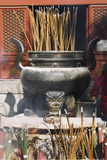 Incense Burning at Taoist Donyue Temple, Chaoyang District, Beijing, China, Asia Photographic Print by Christian Kober