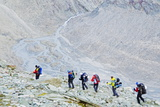 Hikers on the Matterhorn, Zermatt, Valais, Swiss Alps, Switzerland, Europe Photographic Print by Christian Kober