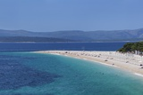 Beach of Zlatni Rat (Golden Horn) and the Island of Hvar in the Background Photographic Print by Markus Lange