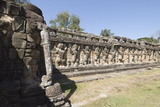 Elephant Terrace, Angkor Thom, Siem Reap, Cambodia Photographic Print by Robert Harding