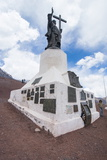 Monument of Christo Redentor (Christ the Redeemer) on a Mountain Pass Between Mendoza and Santiago Photographic Print by Michael Runkel