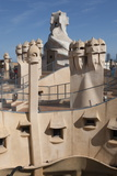 Group of Grotesque Chimneys on the Roof of La Pedrera (Casa Mila) Photographic Print by James Emmerson