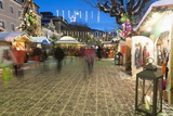 People at Christmas Market, Haupt Square, Schladming, Steiemark, Austria, Europe Photographic Print by Richard Nebesky