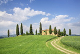 Farm House with Cypress Tree Photographic Print by Markus Lange