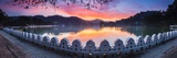 Sunrise at Kandy Lake and the Clouds Wall (Walakulu Wall) Photographic Print by Matthew Williams-Ellis
