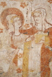 Mural of the Visitation Dating from the 12th to 16th Century in the Church of Moutiers Photographic Print by  Godong