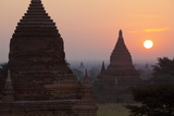 Sunrise over the Bagan Temples Dating from the 11th and 13th Centuries Photographic Print by Stuart Black