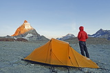 Camping Near the Matterhorn, 4478M, Zermatt, Valais, Swiss Alps, Switzerland, Europe Photographic Print by Christian Kober