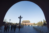 Huabiao Statue under Gate of Heavenly Peace Arch Between the Forbidden City and Tiananmen Square Photographic Print by Christian Kober