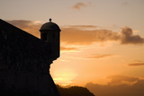 Sunset, Fort San Felipe, Puerto Plata, Dominican Republic, West Indies, Caribbean, Central America Photographic Print by Angelo Cavalli
