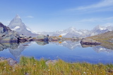 Camping at a Lake Near the Matterhorn, 4478M, Zermatt, Valais, Swiss Alps, Switzerland, Europe Photographic Print by Christian Kober
