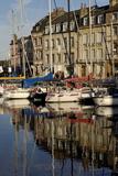 Honfleur Harbour, Calvados, Normandy, France, Europe Reproduction photographique par Jean-Pierre De Mann