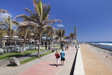 Promenade and Lighthouse Faro De Maspalomas Photographic Print by Markus Lange