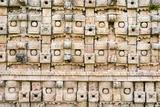 Close Up of the Wall at the Mayan Ruins at El Palacio De Los Mascarones (Palace of Masks) Photographic Print by John Woodworth