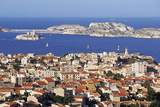 Views of Chateau D'If and Frioul Island, Marseille, Provence, France Photographic Print by John Miller