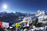 Sunrise on Mount Everest from Gokyo Ri Photographic Print by Peter Barritt