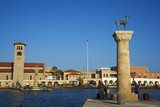 Mandraki Harbour, Rhodes City, Rhodes, Dodecanese, Greek Islands, Greece, Europe Photographic Print by  Tuul