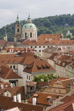 View of Rooftops, Church of St. Nicholas Dome, Little Quarter, Prague, Czech Republic, Europe Photographic Print by Martin Child
