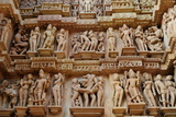 Erotic Sculptures on the Walls of Western Group of Monuments Photographic Print by Bhaskar Krishnamurthy
