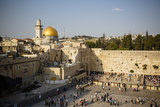 View over the Western Wall (Wailing Wall) and the Dome of the Rock Mosque Photographic Print by Yadid Levy
